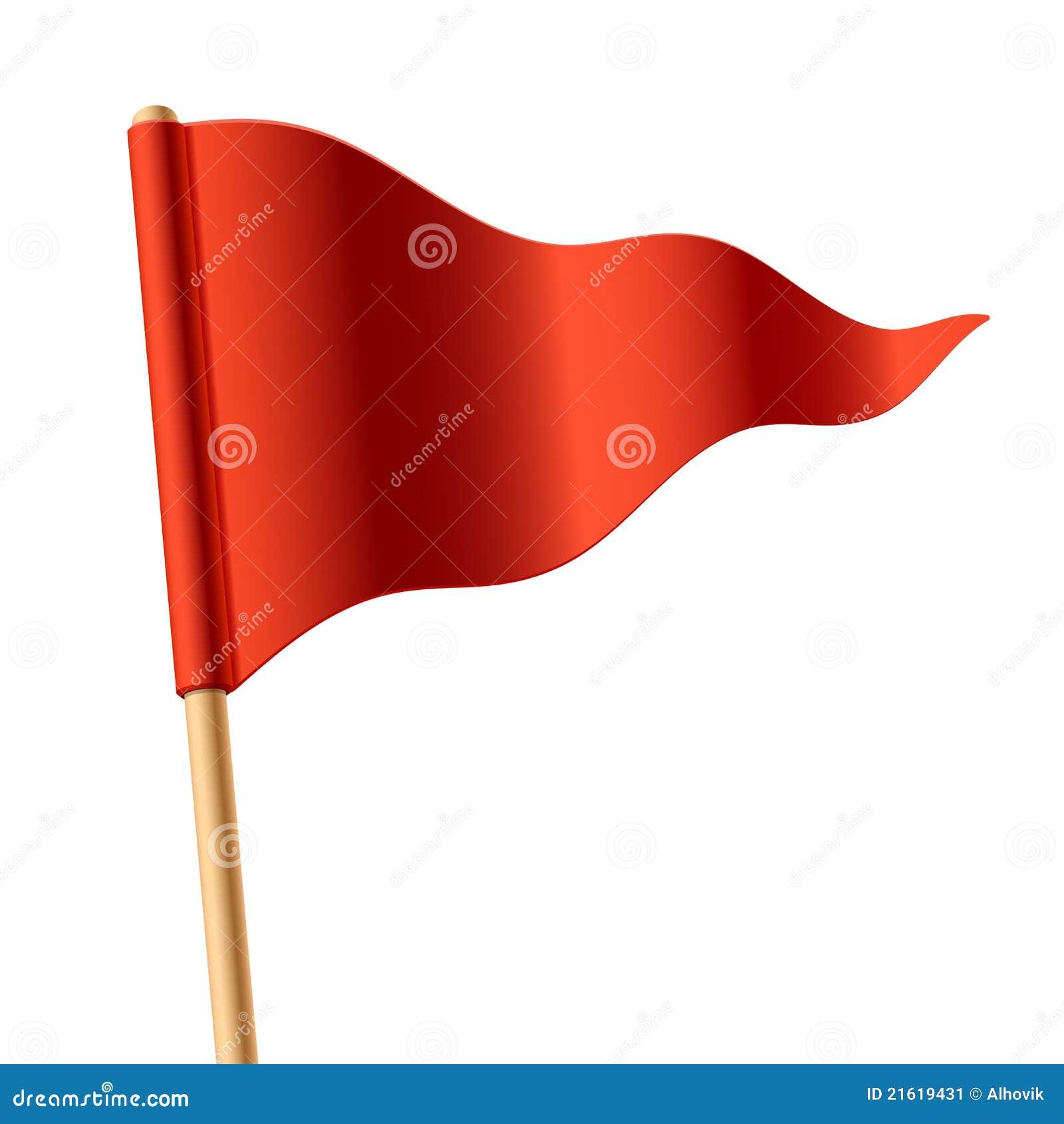 Bandierina triangolare rossa d ondeggiamento