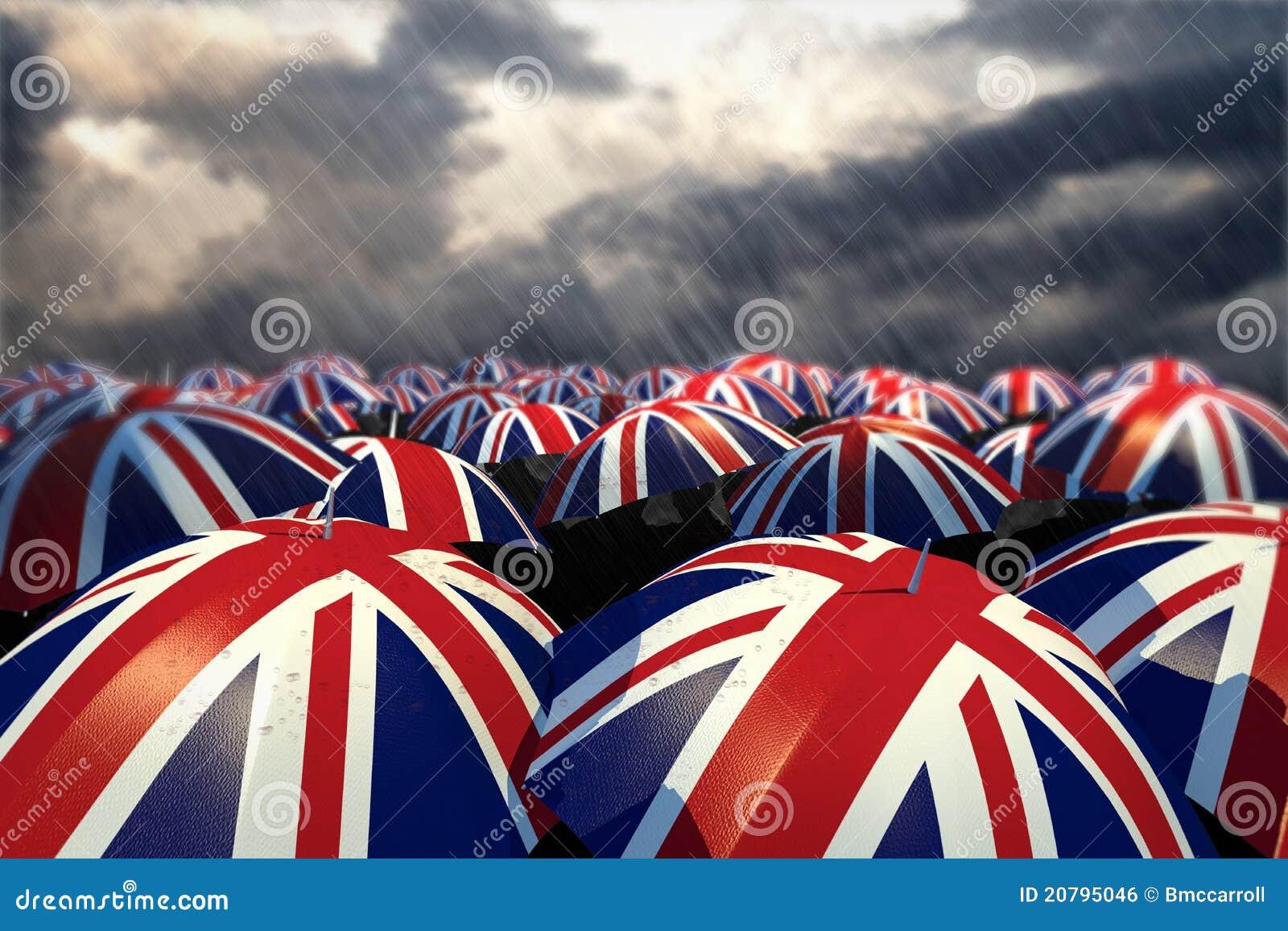 Bandierine BRITANNICHE dell ombrello