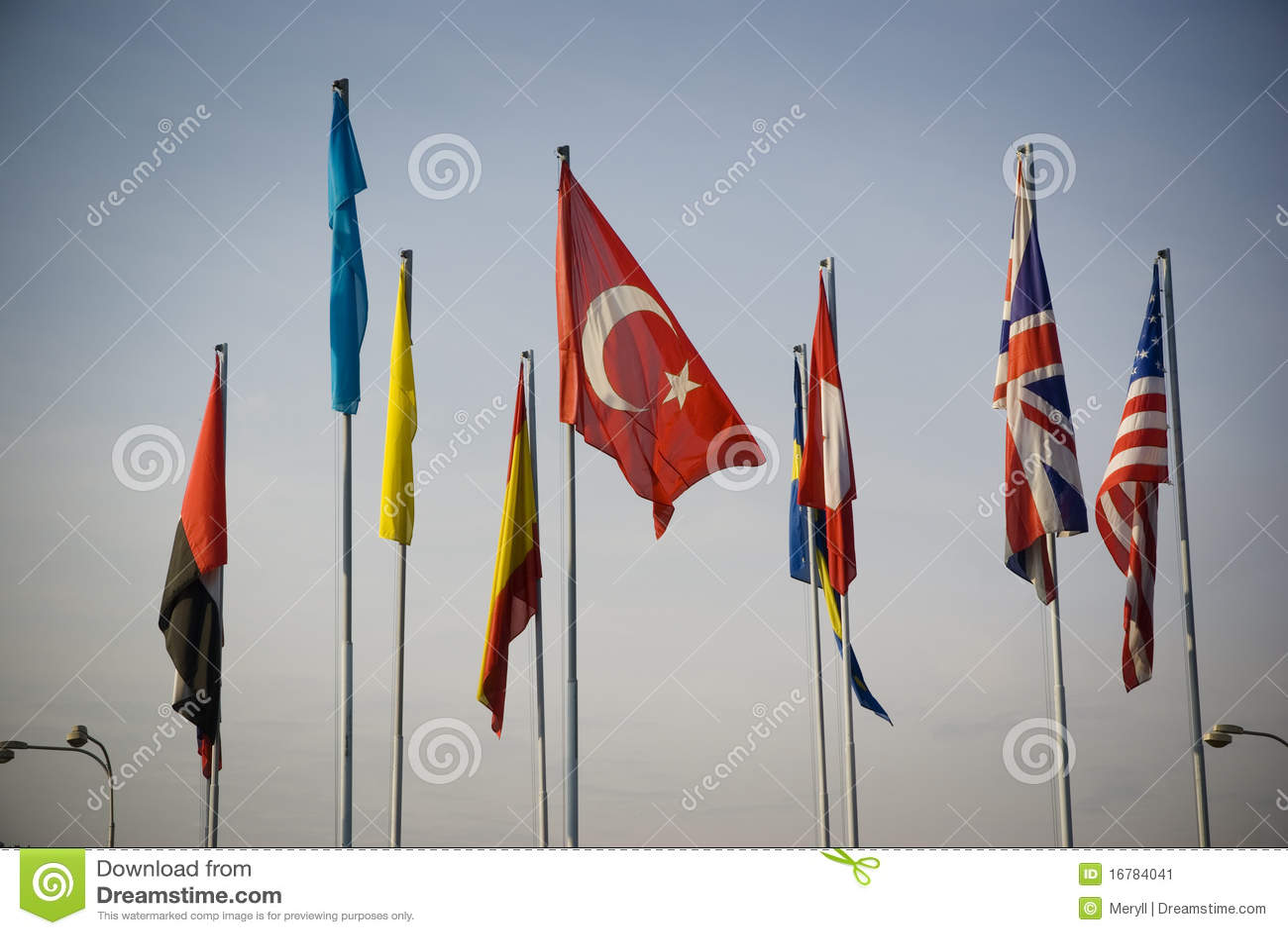 Bandierine internazionali della bandierina della Turchia