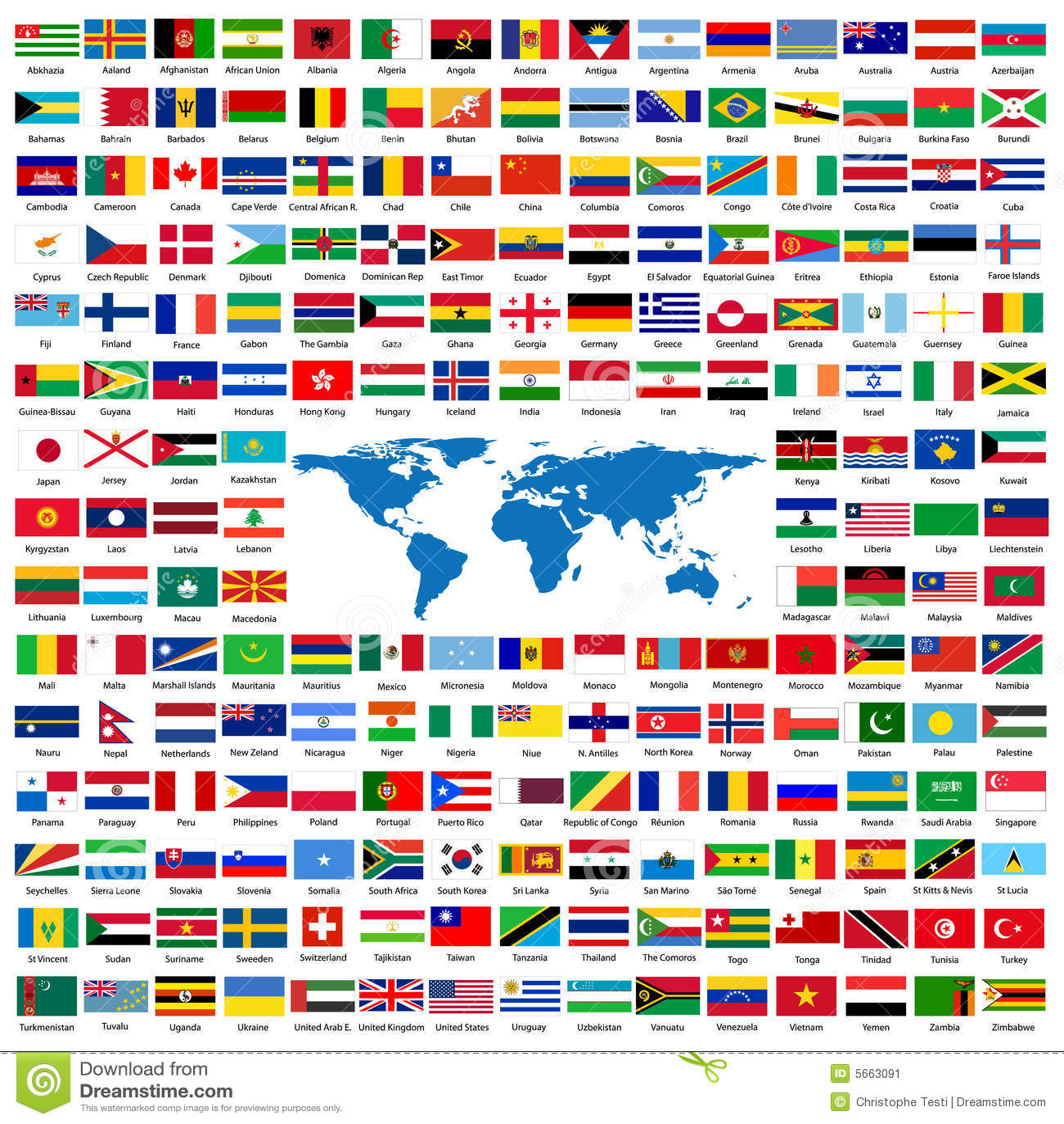 Bandierine ufficiali del mondo