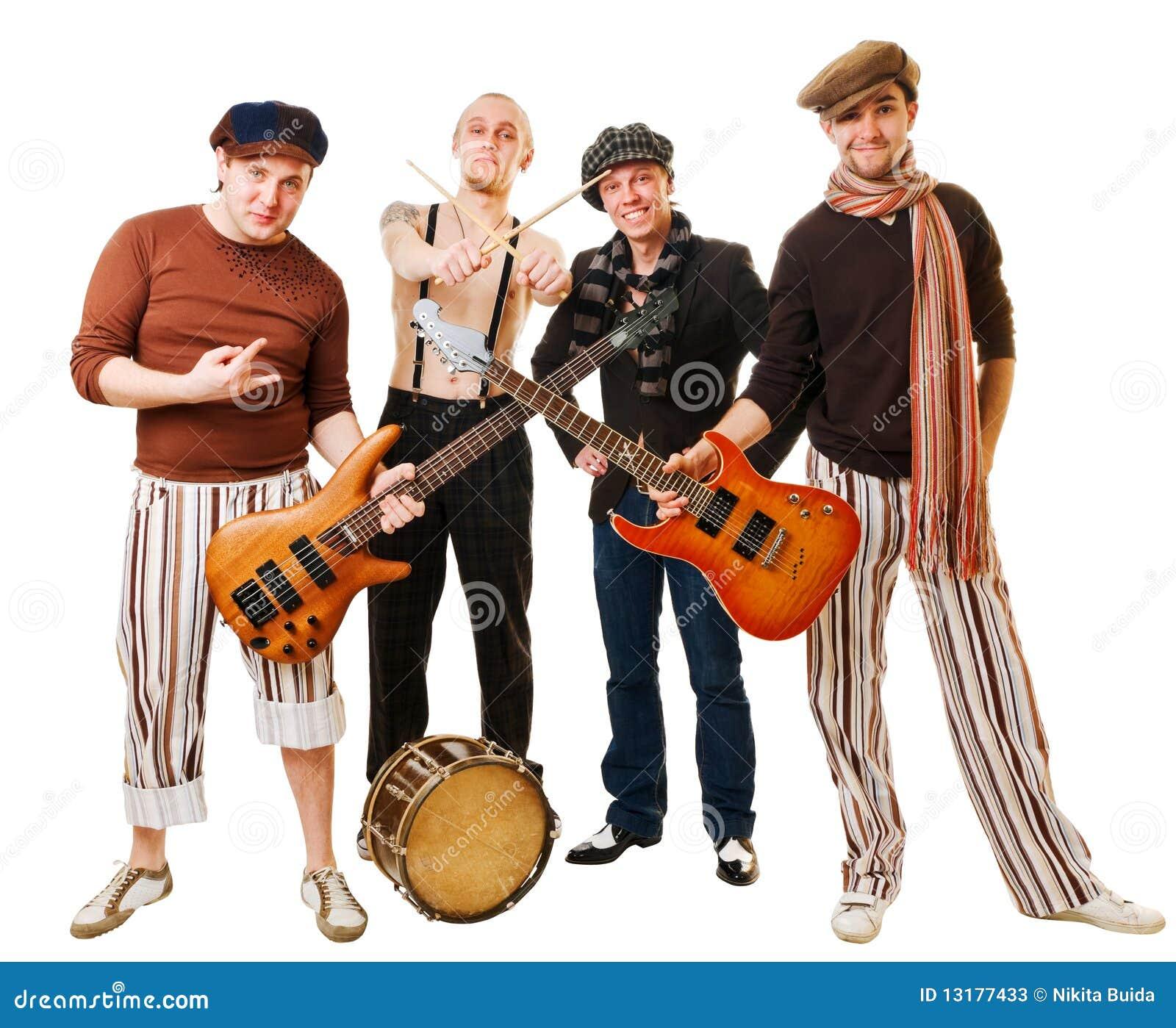 Bandinstrumentmusikal deras white