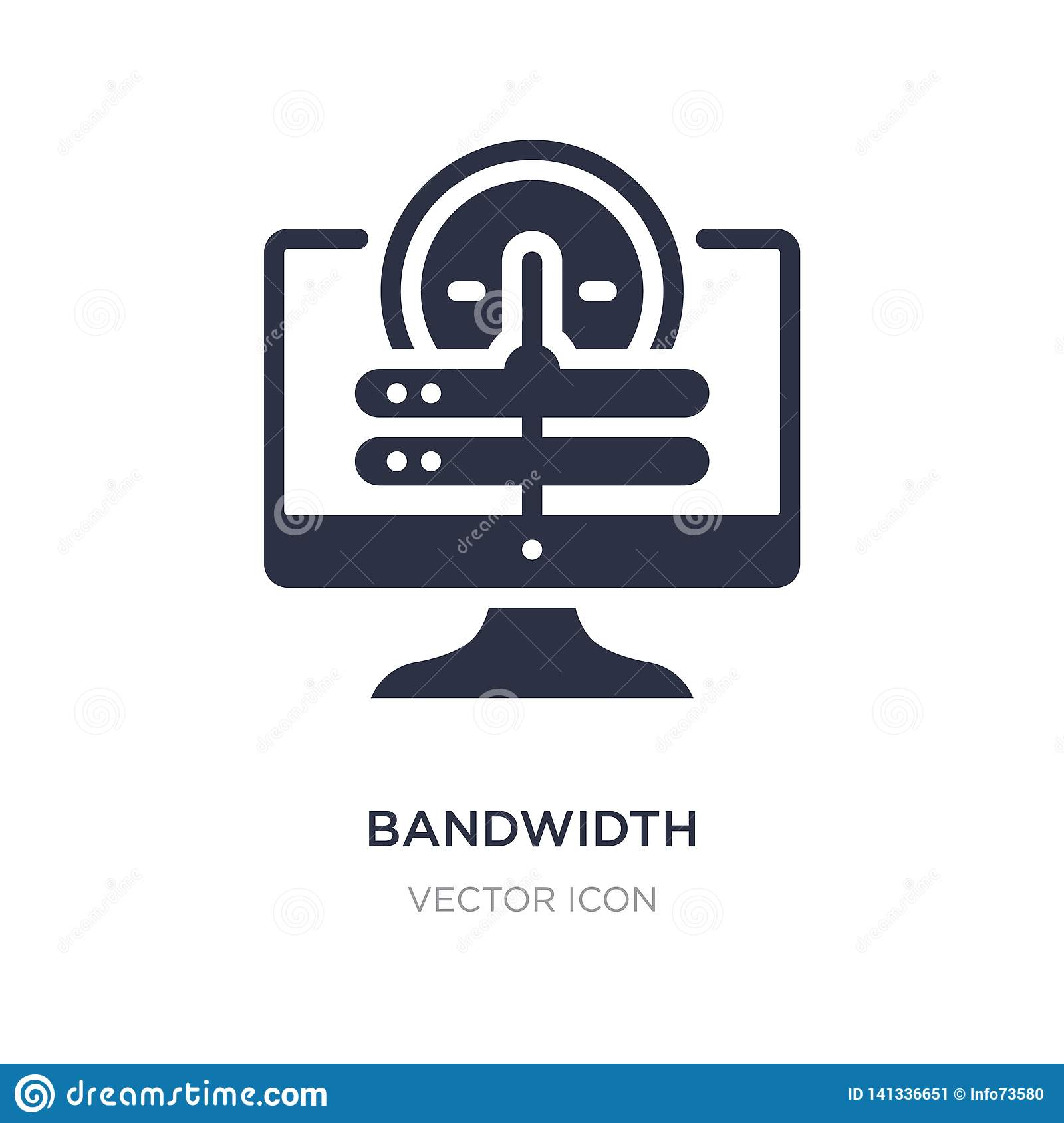 bandwidth icon on white background. Simple element illustration from Web hosting concept