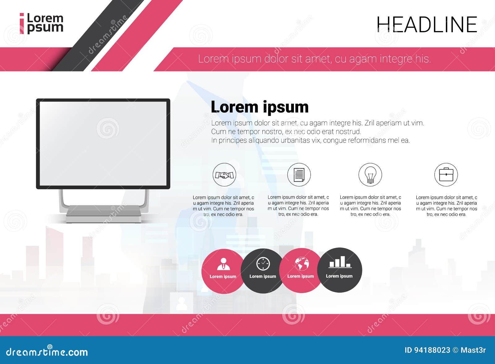 Baner för affär för text för utrymme för datordatamängdInfographic kopia färgrikt