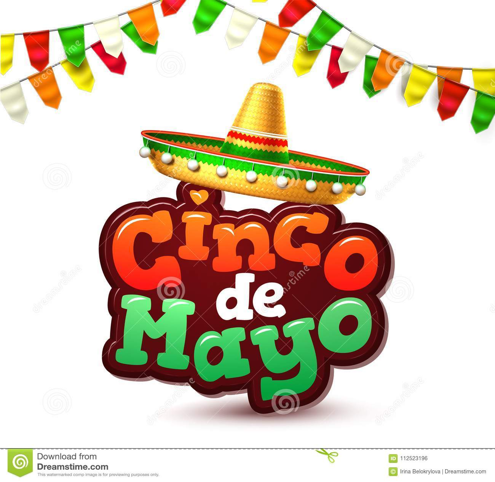 Baner för affisch för parti för vektorcincode mayo mexikanskt