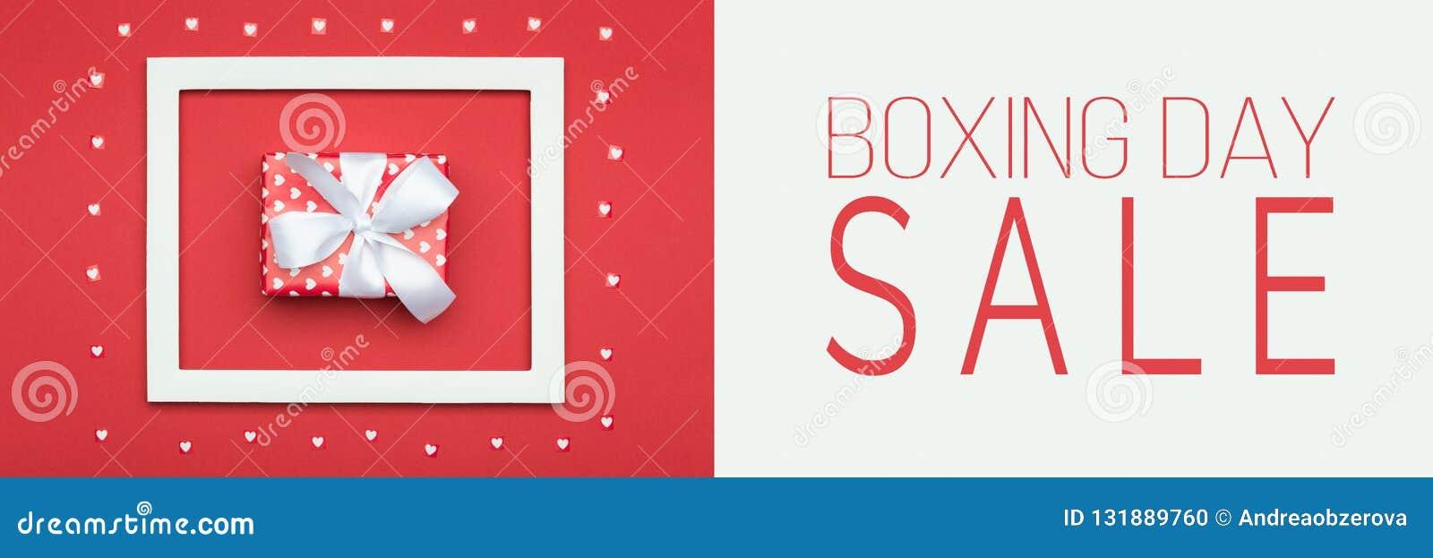 Baner för försäljning för boxningdag Festlig Sale för jul för vinterferier bakgrund