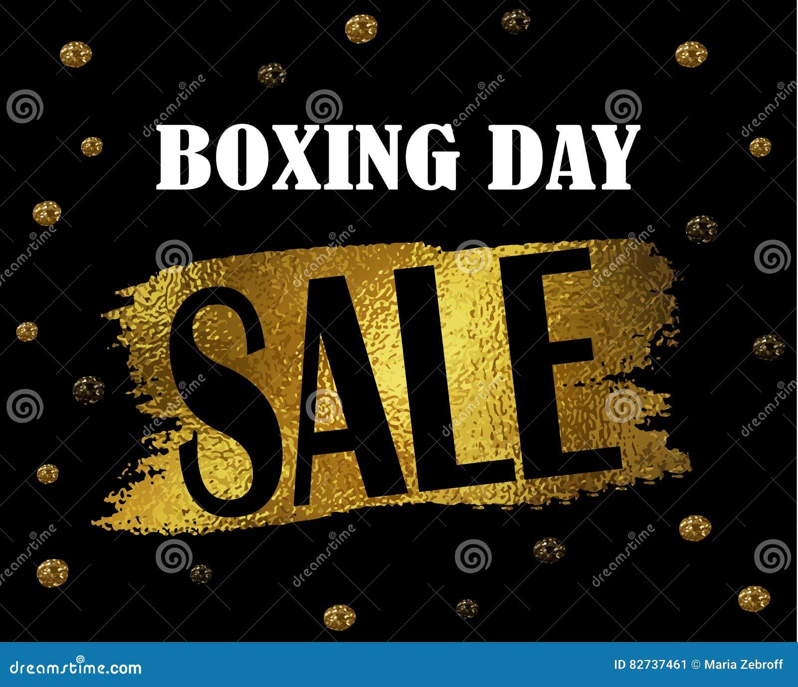 Baner för försäljning för boxningdag
