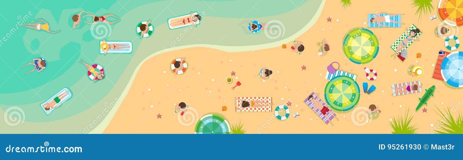 Baner för ferie för sand för sjösida för sommarstrandsemester tropiskt