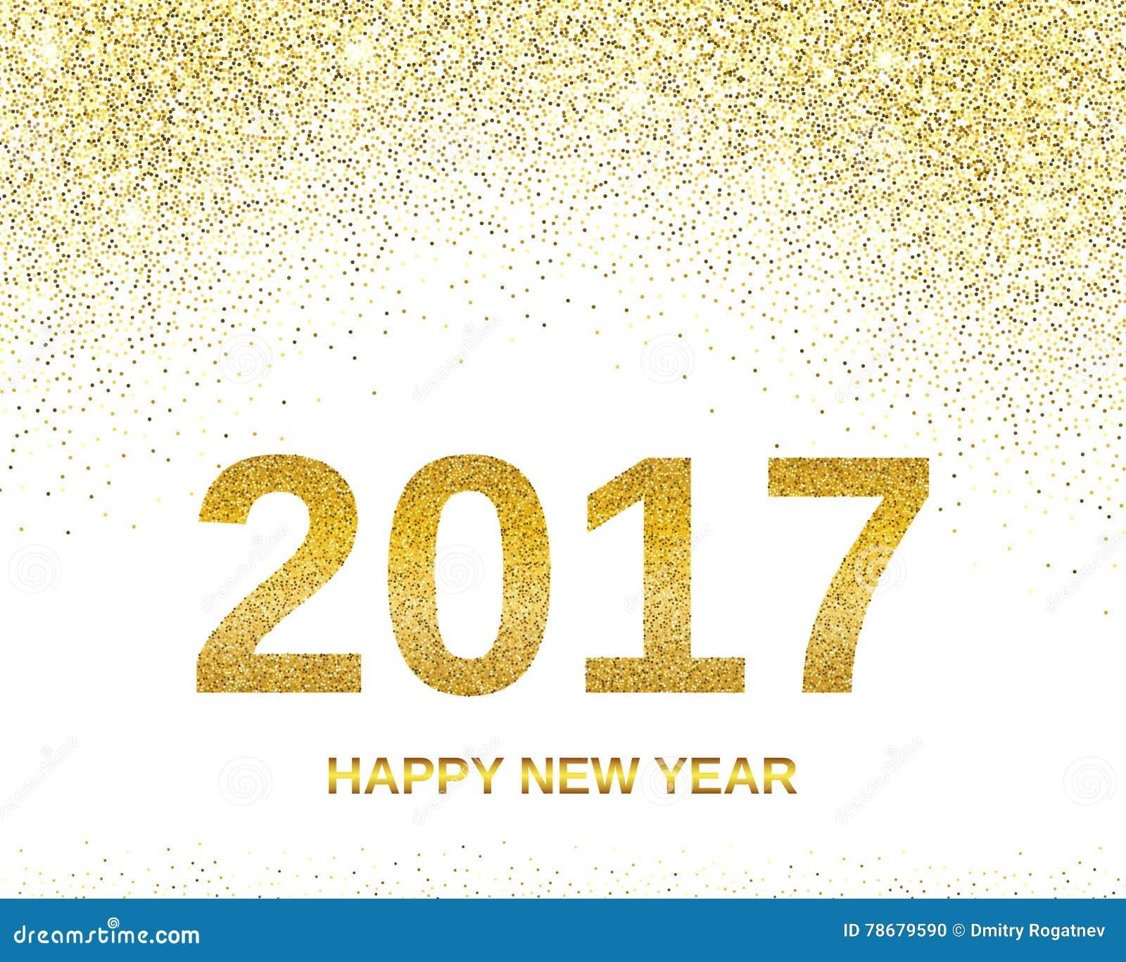 Baner 2017 för lyckligt nytt år