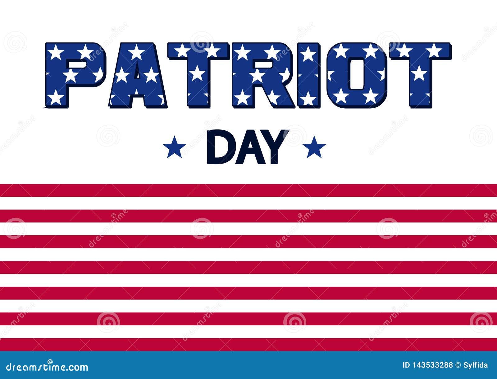 Baner för patriotdag flagga USA vektor