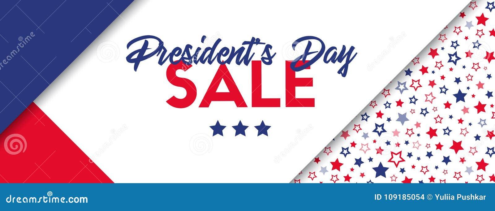 Baner för presidentdagförsäljning
