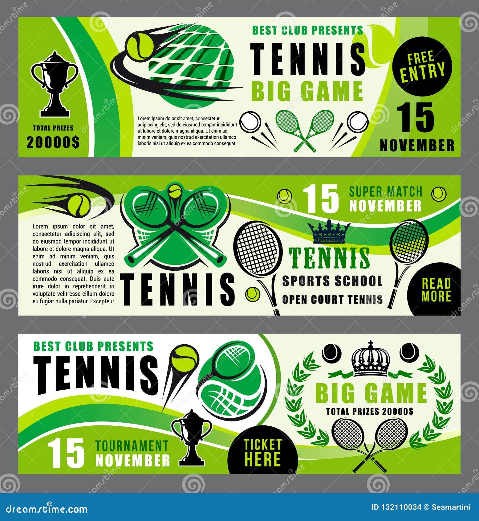 Baner för skola och för turnering för tennissport modiga