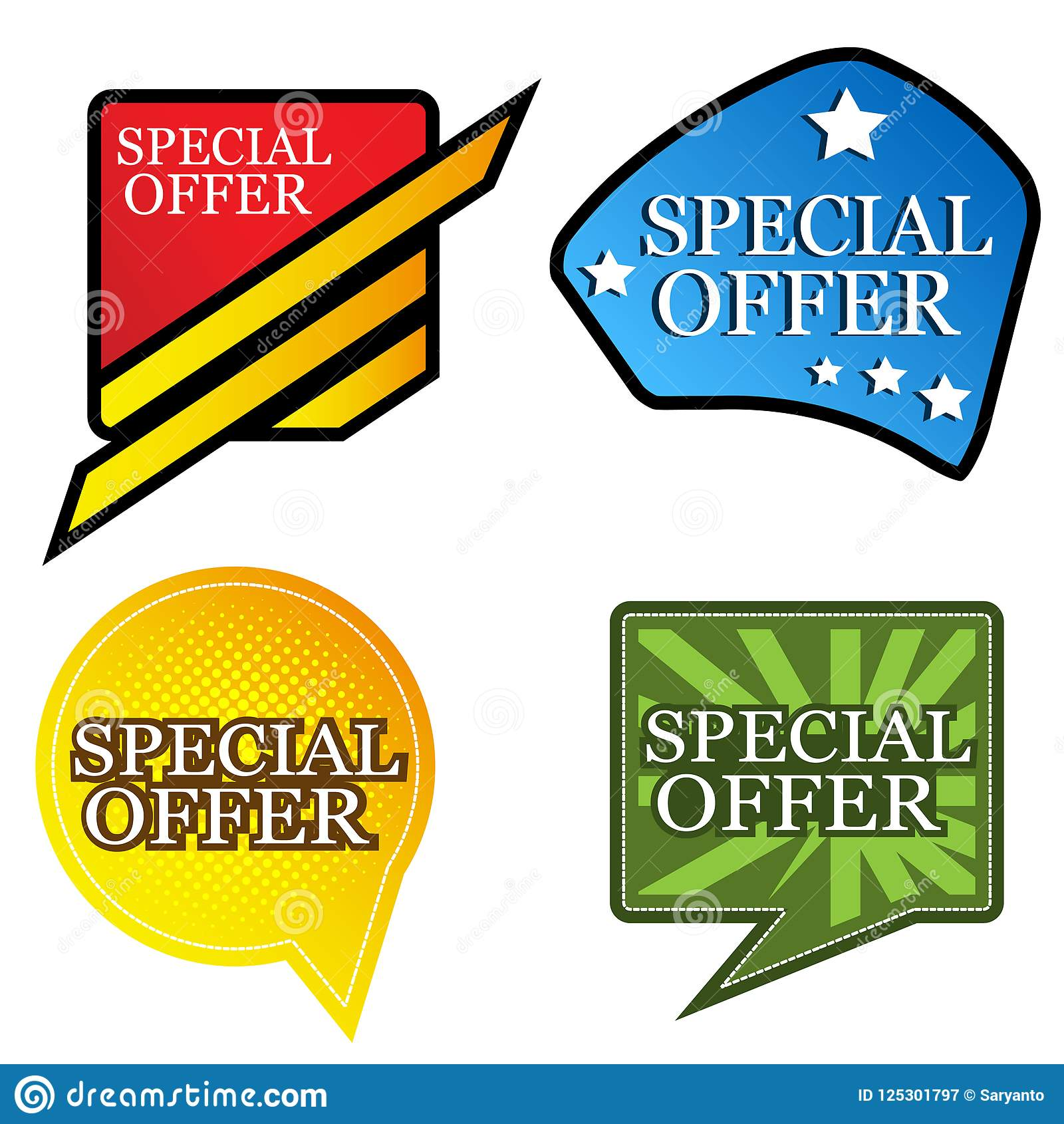 Baner för specialt erbjudande designer för affischer, bakgrunder, kort, baner, klistermärkear, etc.