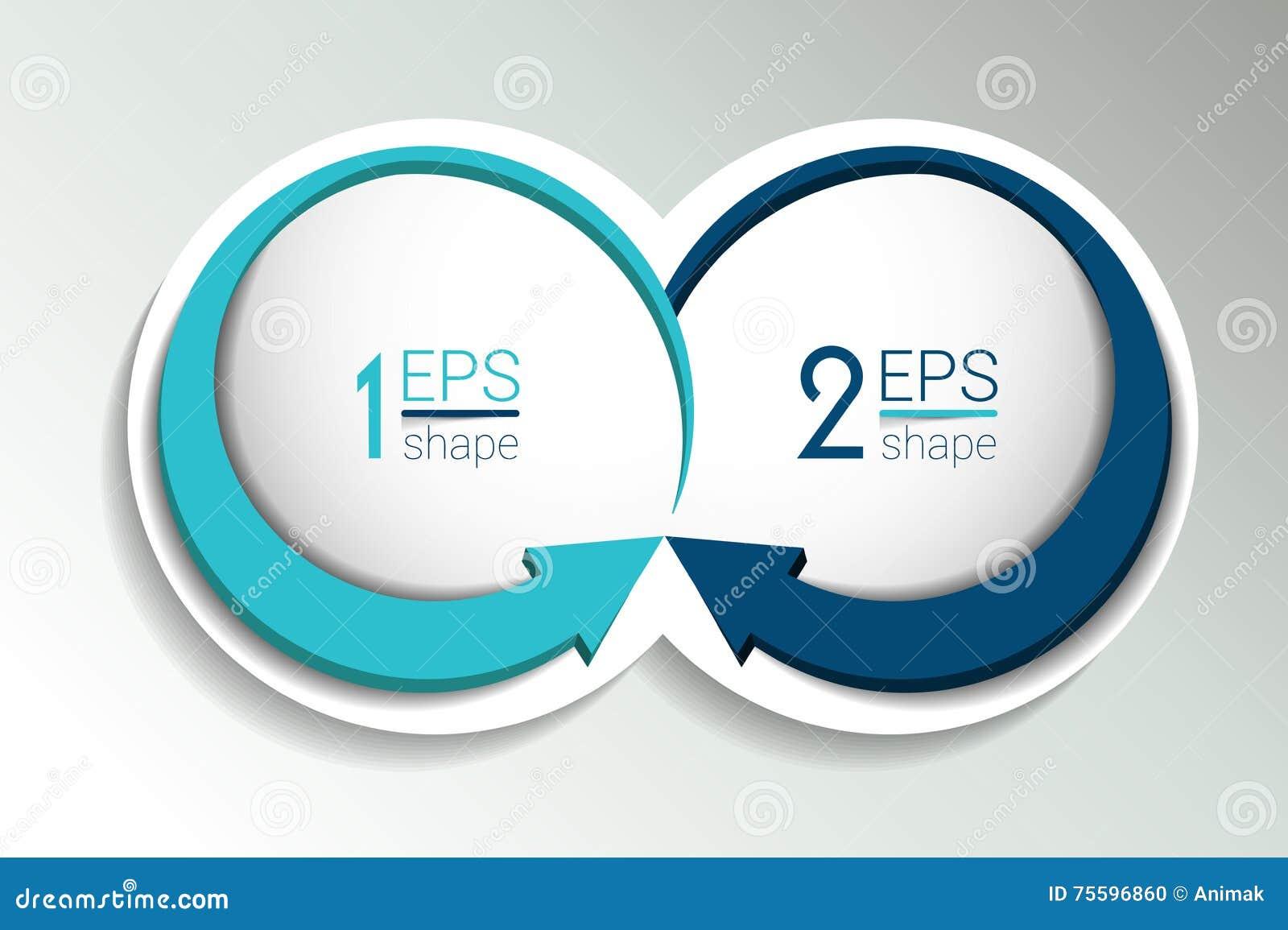 Baner för två affärsbeståndsdelar, mall 2 moment planlägger, kartlägger, infographic steg-för-steg nummeralternativ, orientering