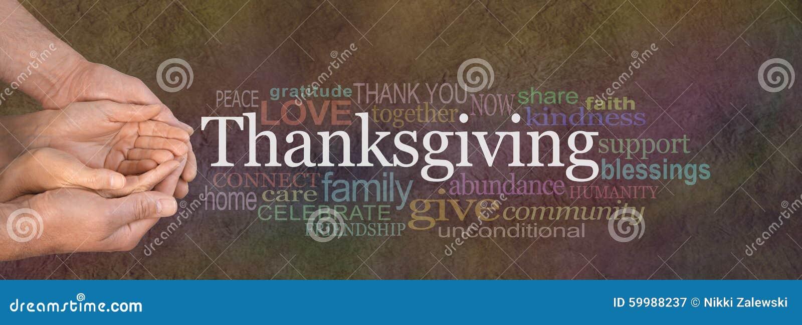Baner för Website för tacksägelseordmoln