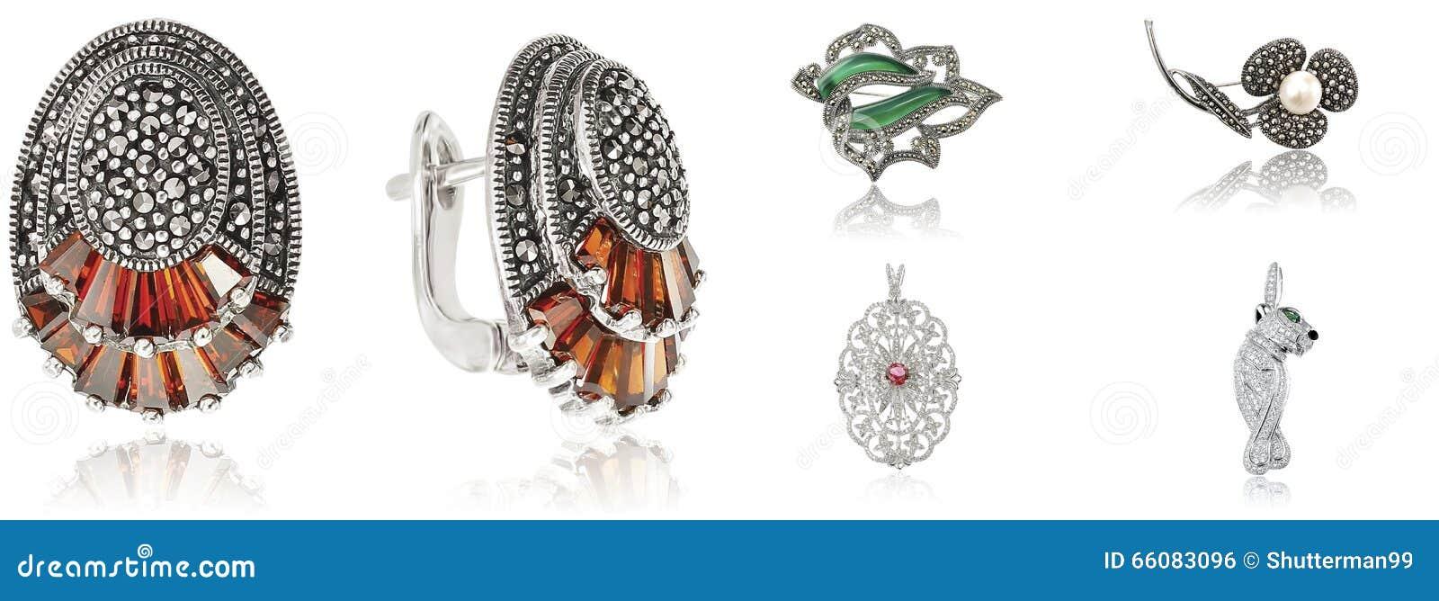 Baner med smycken