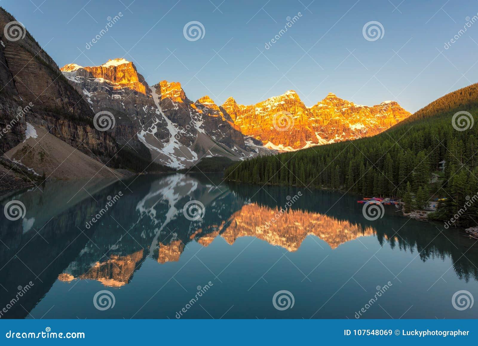 Banff加拿大湖冰碛国家公园