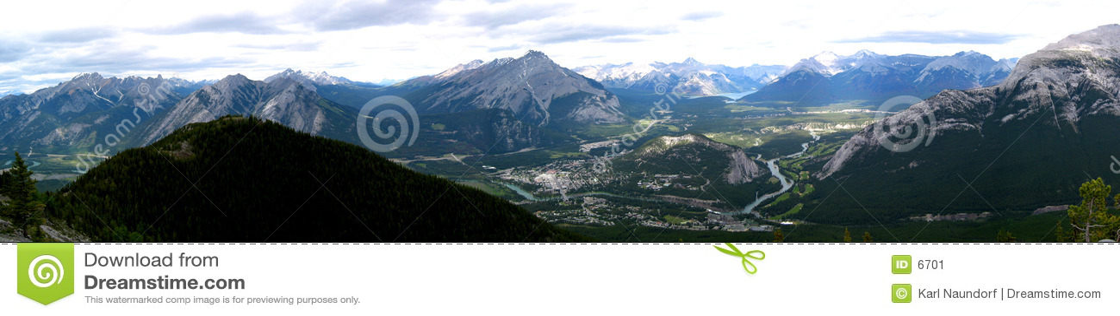 Banff πανοραμικό townsite βουνών