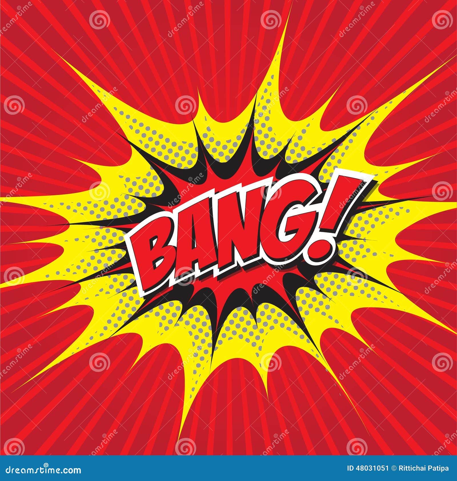 bang  comic word stock vector