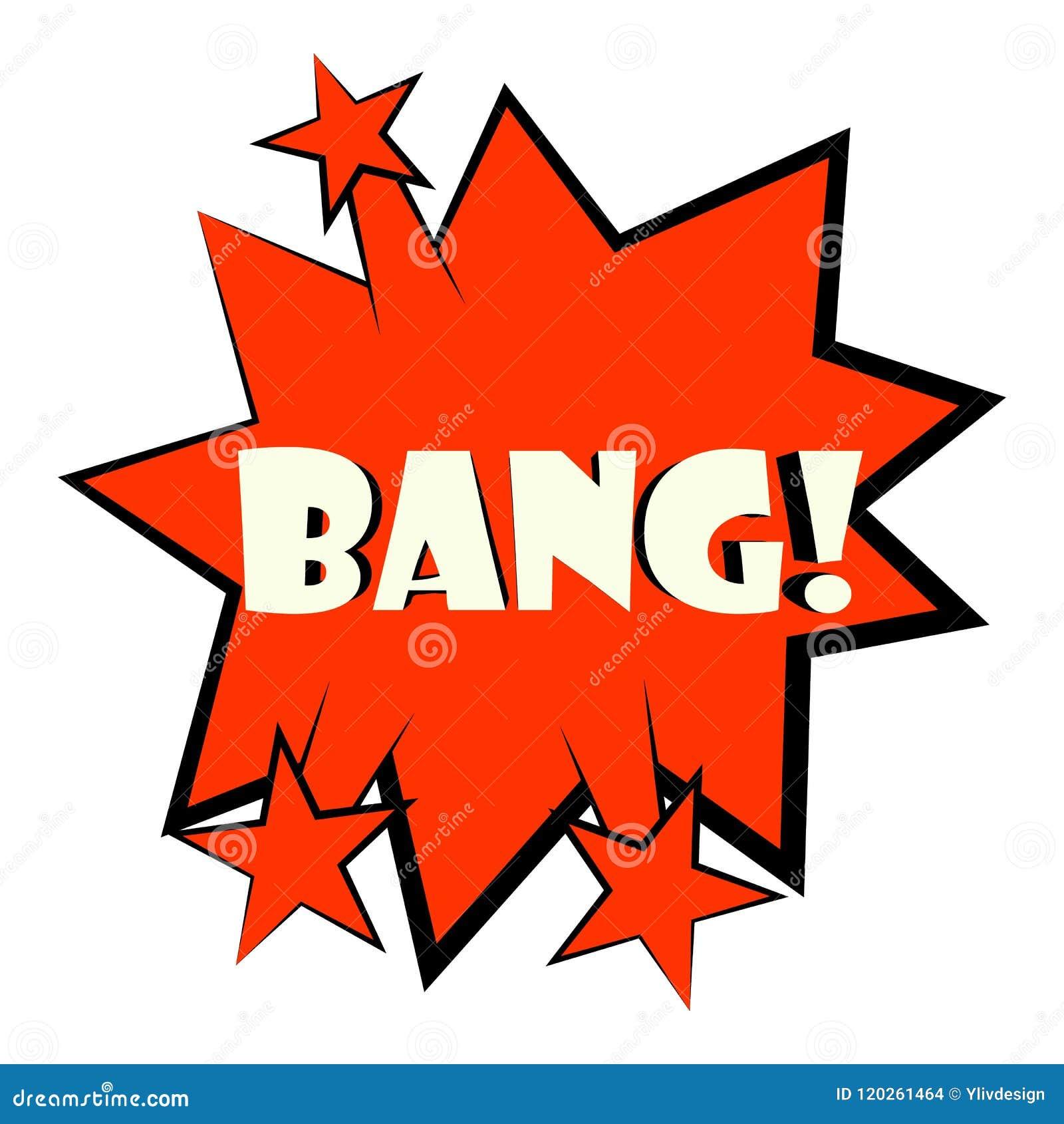 Bang Explosion Sound Effect Icon, Cartoon Style Stock Vector