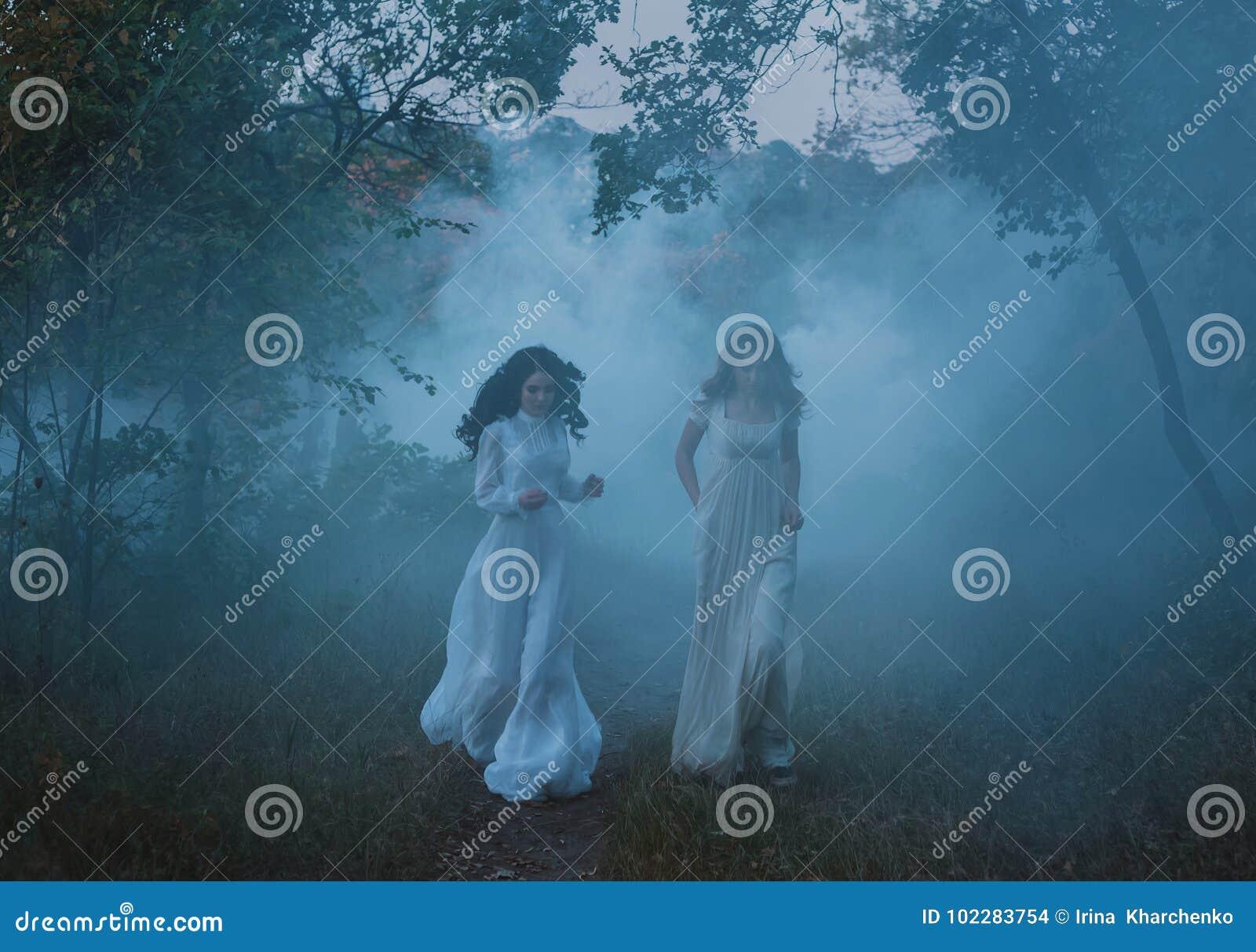 Bang gemaakte meisjes in uitstekende kleding