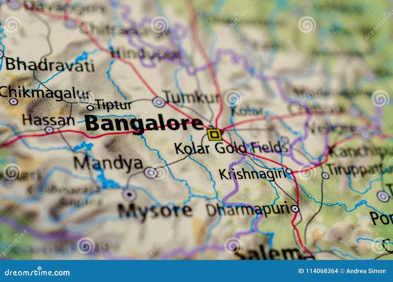 Bangalore eller Bengaluru på översikt