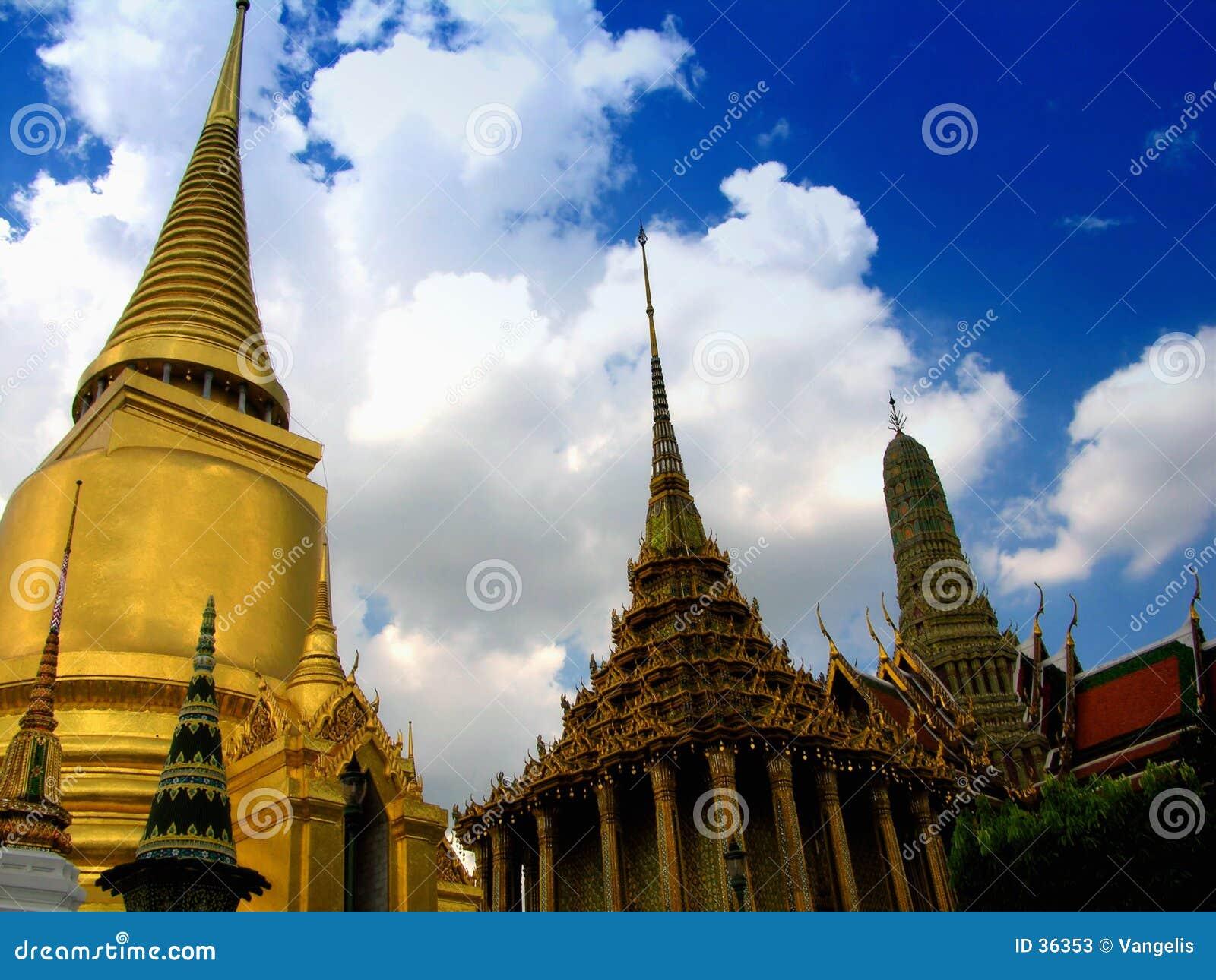Bangkok 1 kaeo pałacu phra Thailand kawałków bajecznego wat