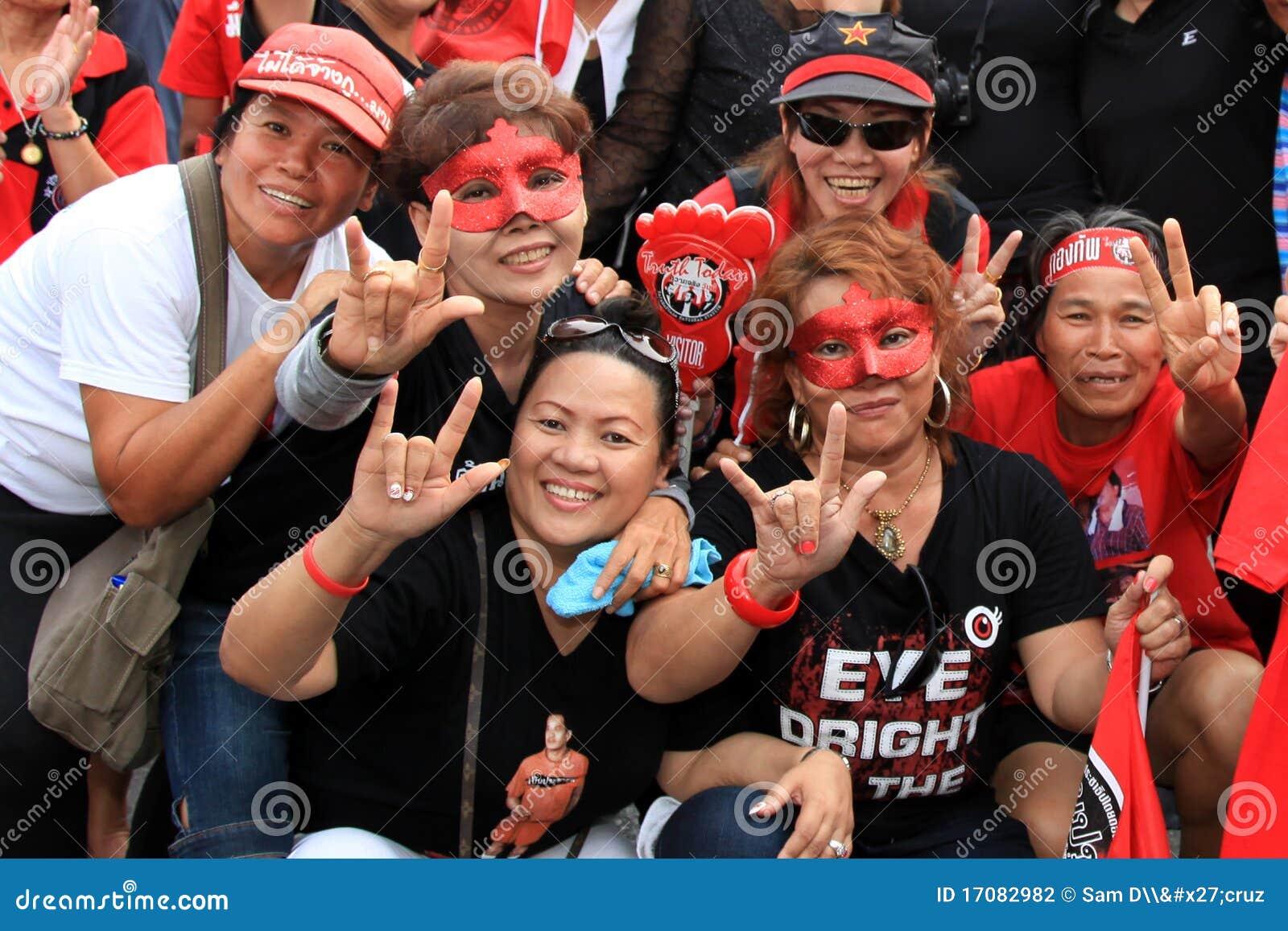 BANGKOK - 19. NOVEMBER: Roter Hemd-Protest
