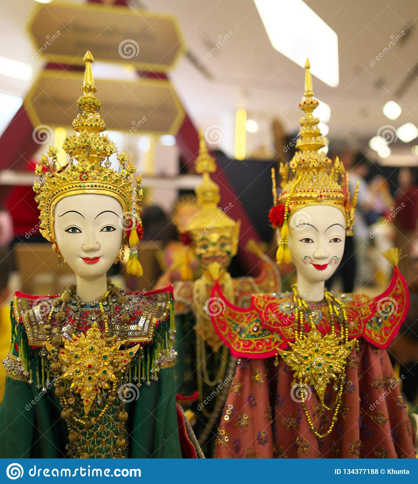Khon Mask, A Costume Of Performers Of The Classical Dance