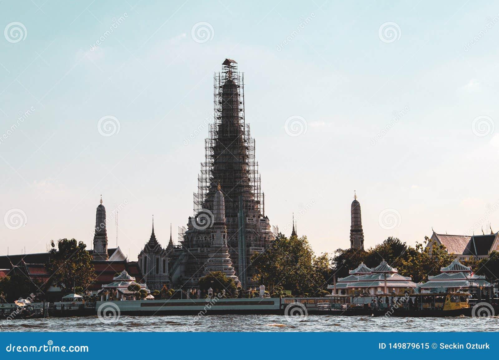 Bangkok buddistiskt tempel thailand