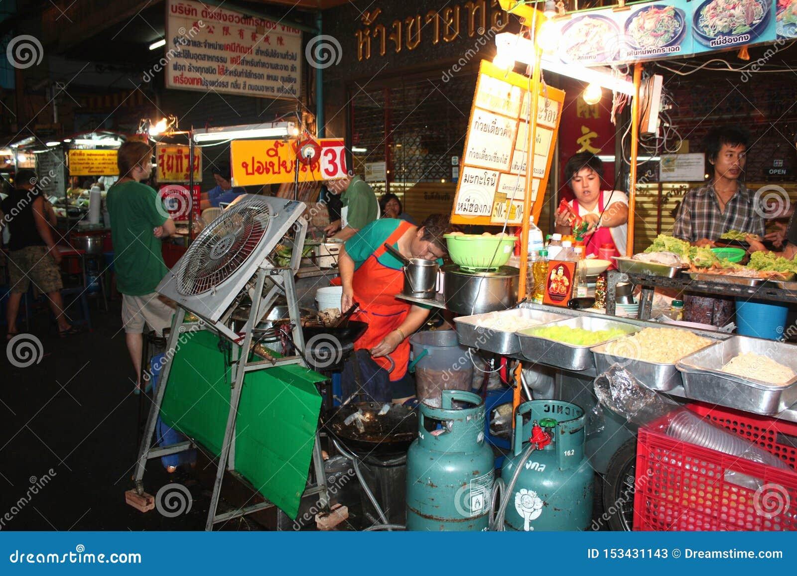 Bangkok Chinatown Street Food Night Mobile Kitchen Cafe Thai Food Editorial Stock Photo Image Of Market Cafe 153431143