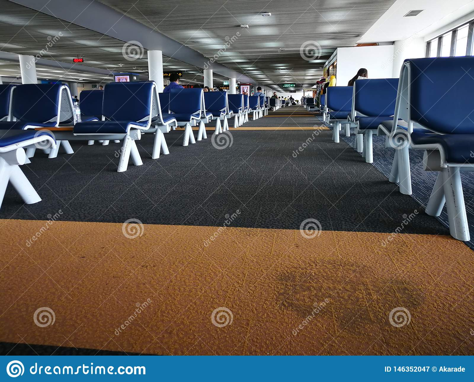 Bangkok Don Mueang Airport, Tailandia, aprile 2019 terminale di partenza