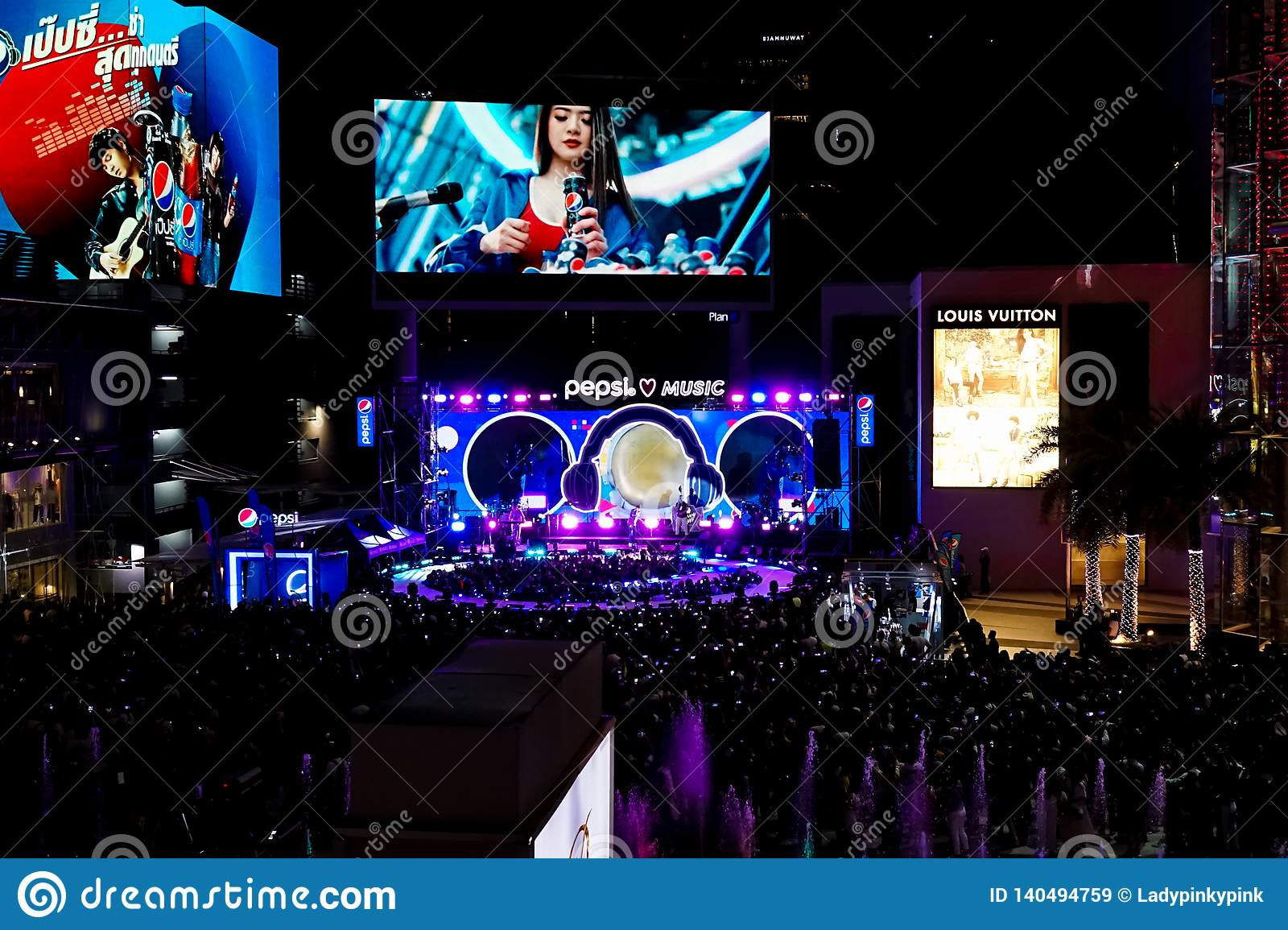 Bangkok - Feb 22, 2019 : A Photo Of Pepsi Music Roadshow, A