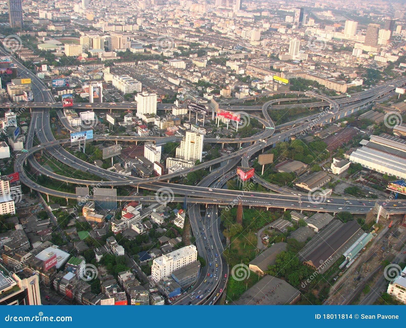 Bangkok huvudvägar thailand
