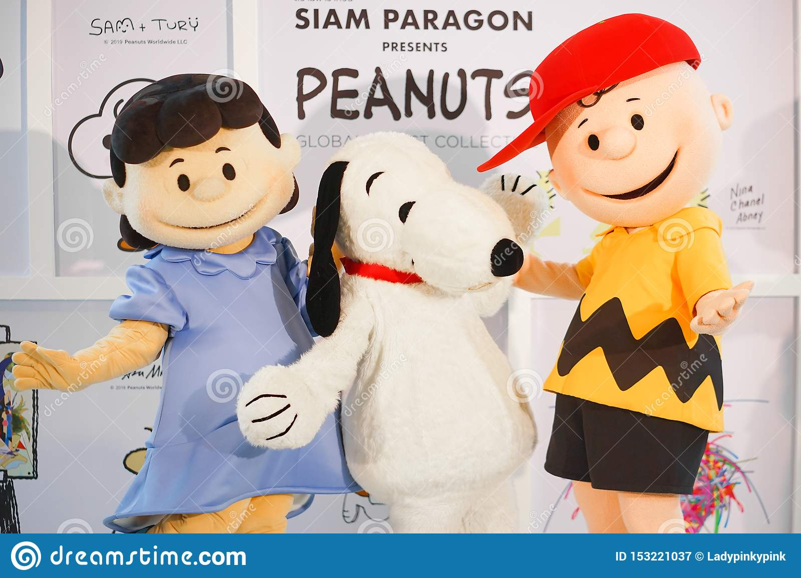 Famous Character Mascots From Peanuts Movies. From Left To ...
