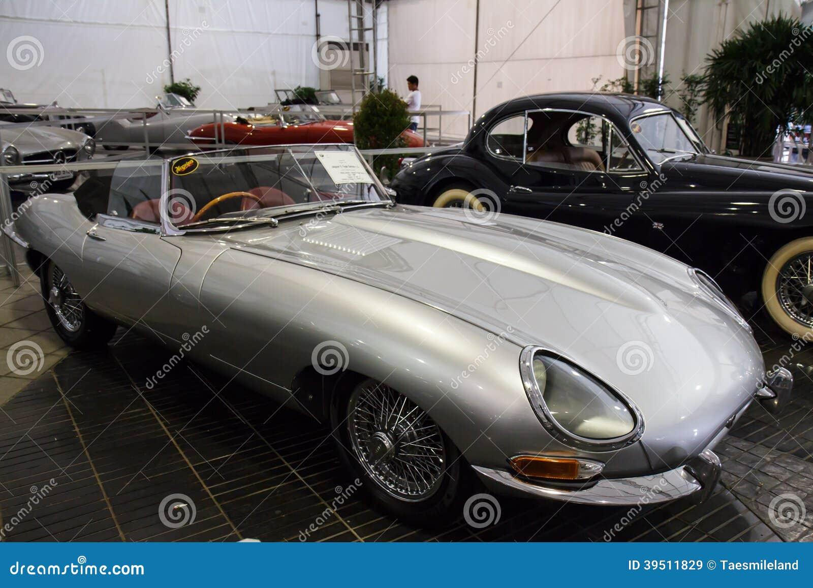 BANGKOK - JUNE 22 Jaguar E-Type Series 1 5 1960 on display at Th