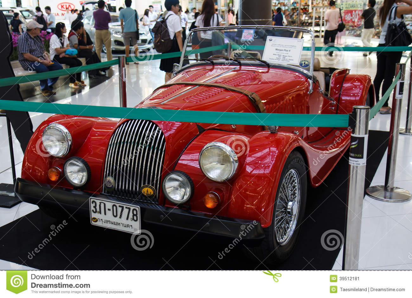 BANGKOK - JUNE 22 MG TF 220A Cabriolet 1955 , 1,500 CC , Great B