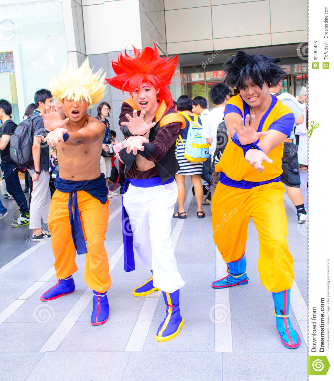 Cosplayer From Dragonball Z Editorial Image Image Of