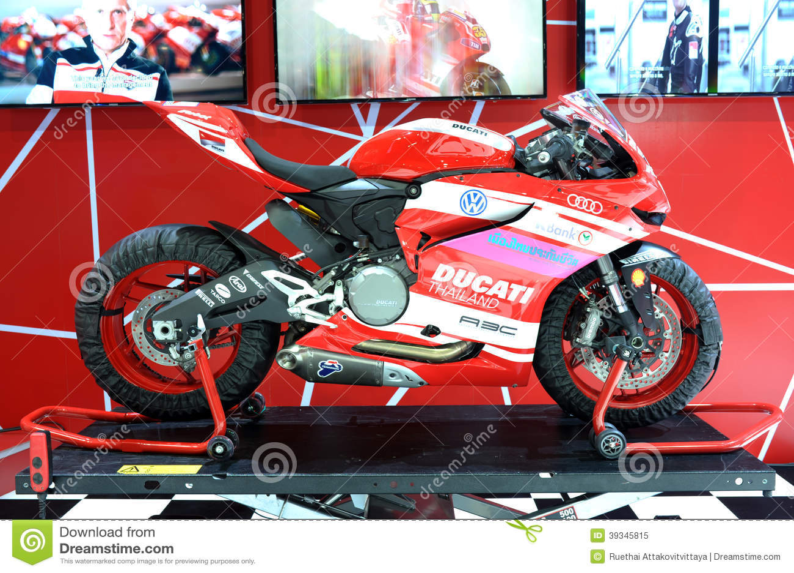 Bangkok March 24 Ducati Superbike Motorbike Editorial Image