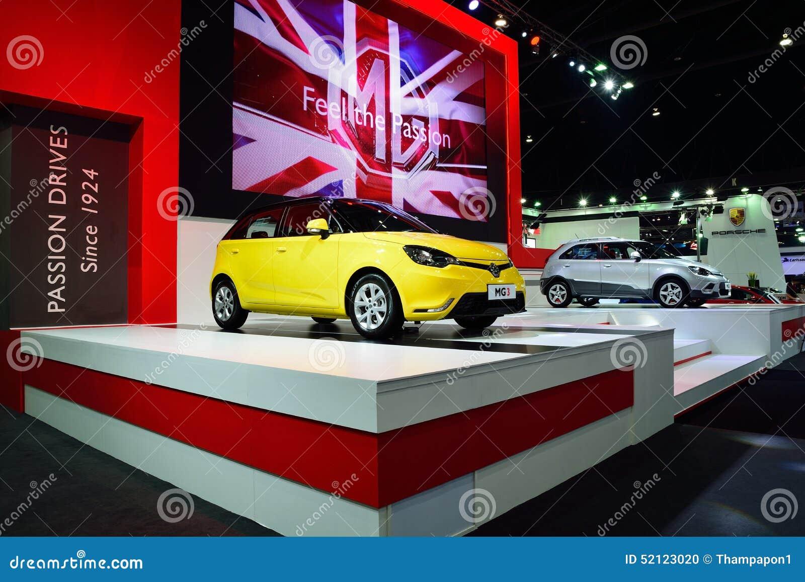 bangkok 26 mars voiture de berline avec hayon arri re de mg 3 avec le moteur de 1500 cc vti. Black Bedroom Furniture Sets. Home Design Ideas