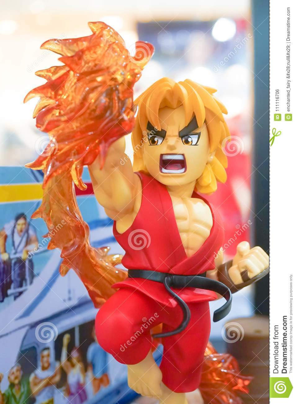 Shoryuken Mascot Toy Model, A Character From Street Fighter