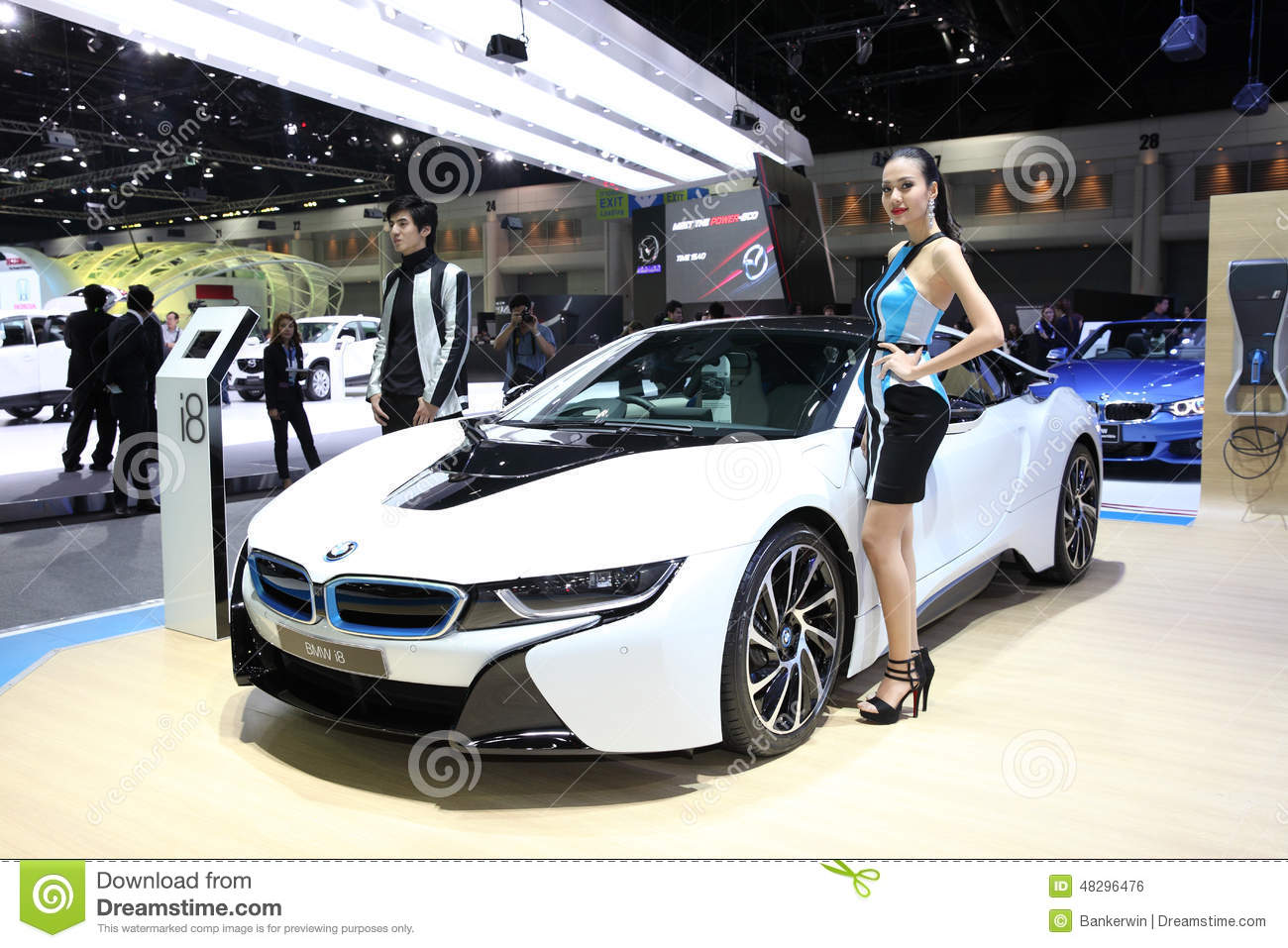 Bangkok November 28 Bmw I8 Car Unidentified Models On Display