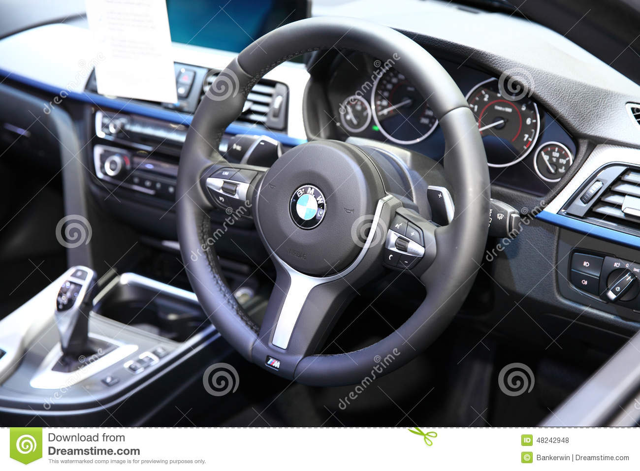 Bangkok November 28 Console Inside Bmw I8 Car On Display At