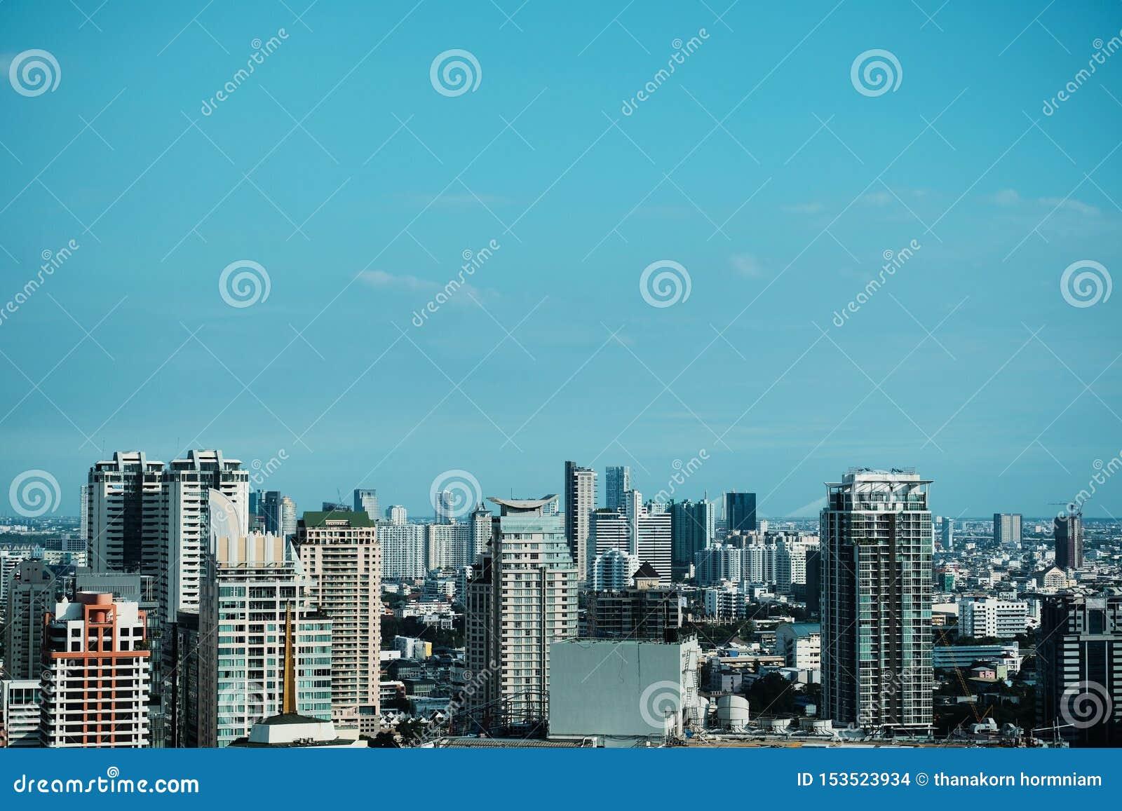 Bangkok pejzażu miejskiego tło