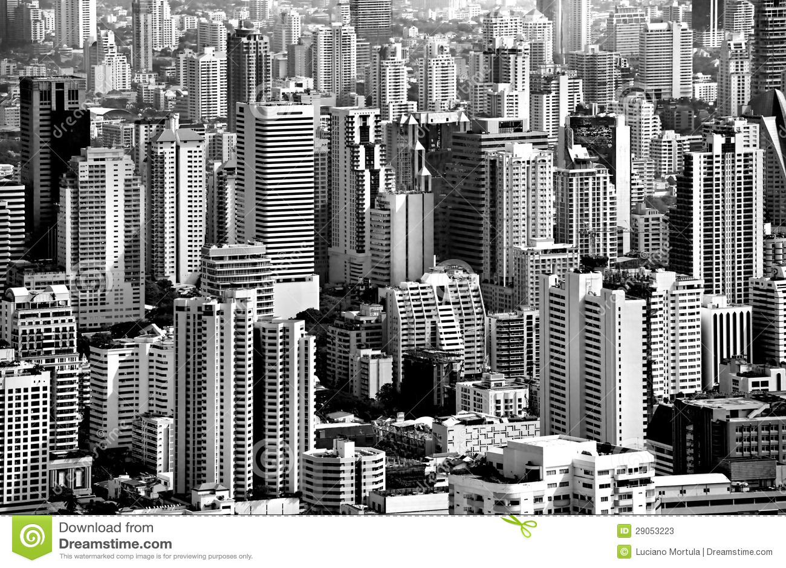 Bangkok Skyline Thailand Stock Image Image Of Krungthep