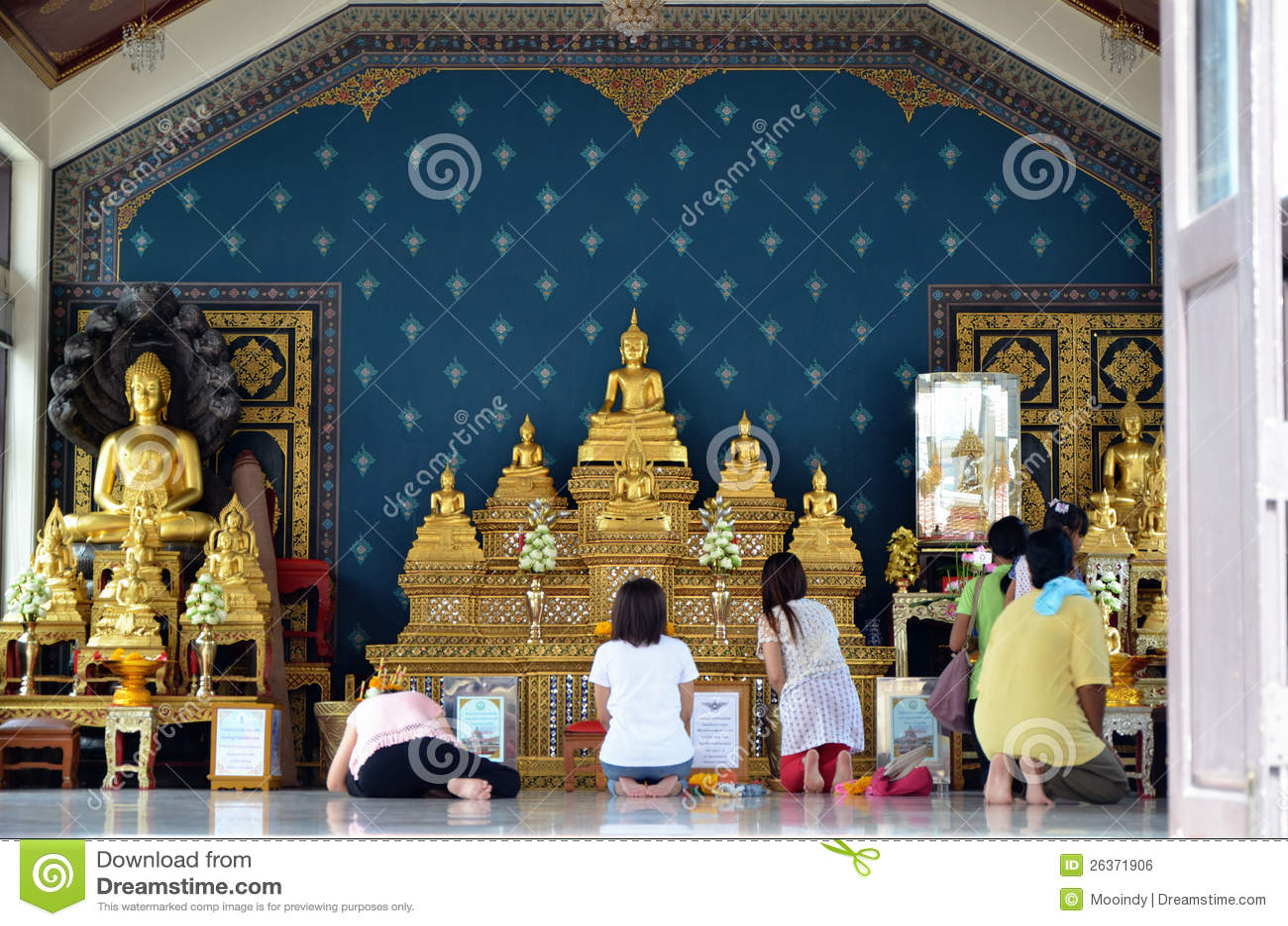 Bangkok-Stadt-Pfosten-Schrein, Thailand