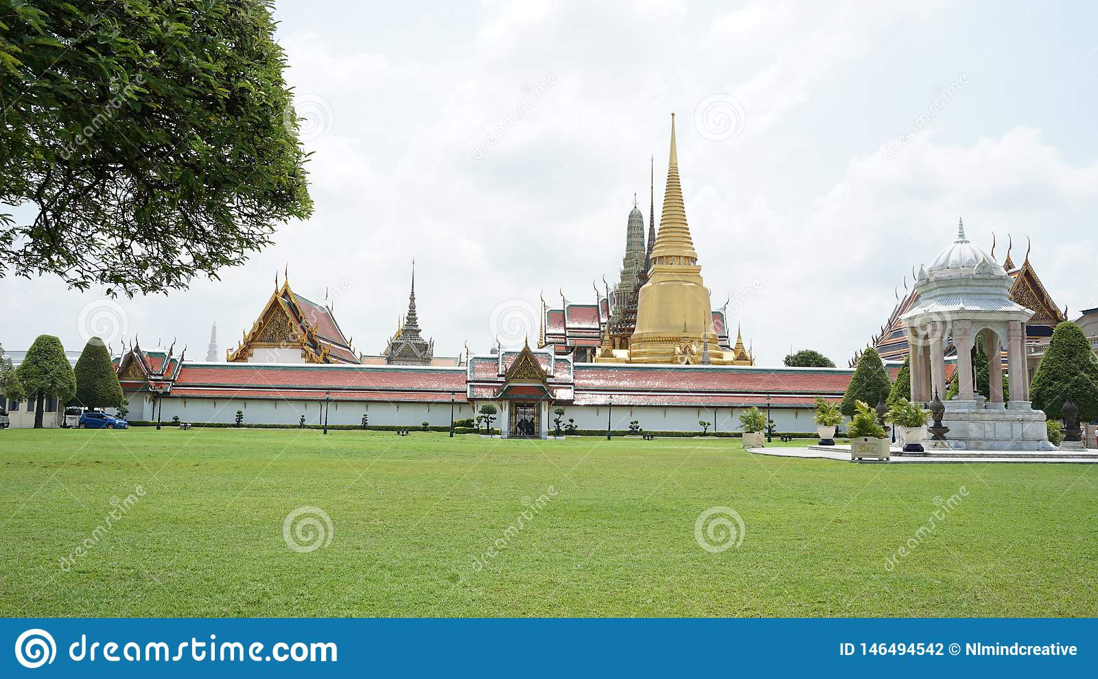 Bangkok storslagen slott thailand
