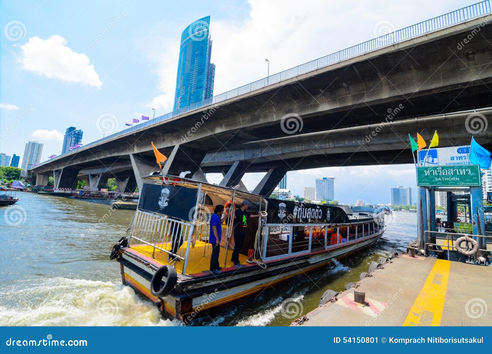 Bangkok, Tailandia: Embarcadero de Sathorn