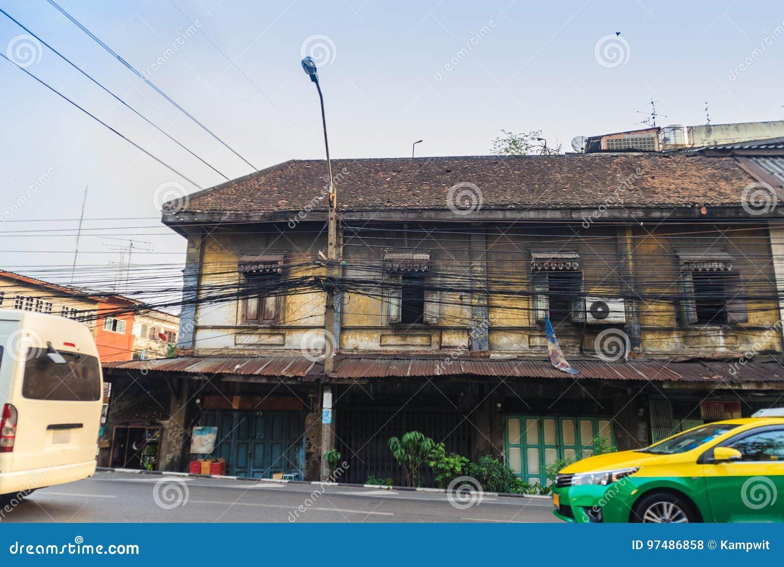 Bangkok, Tailandia - 2 marzo 2017: Vista del paesaggio dei Bu d annata
