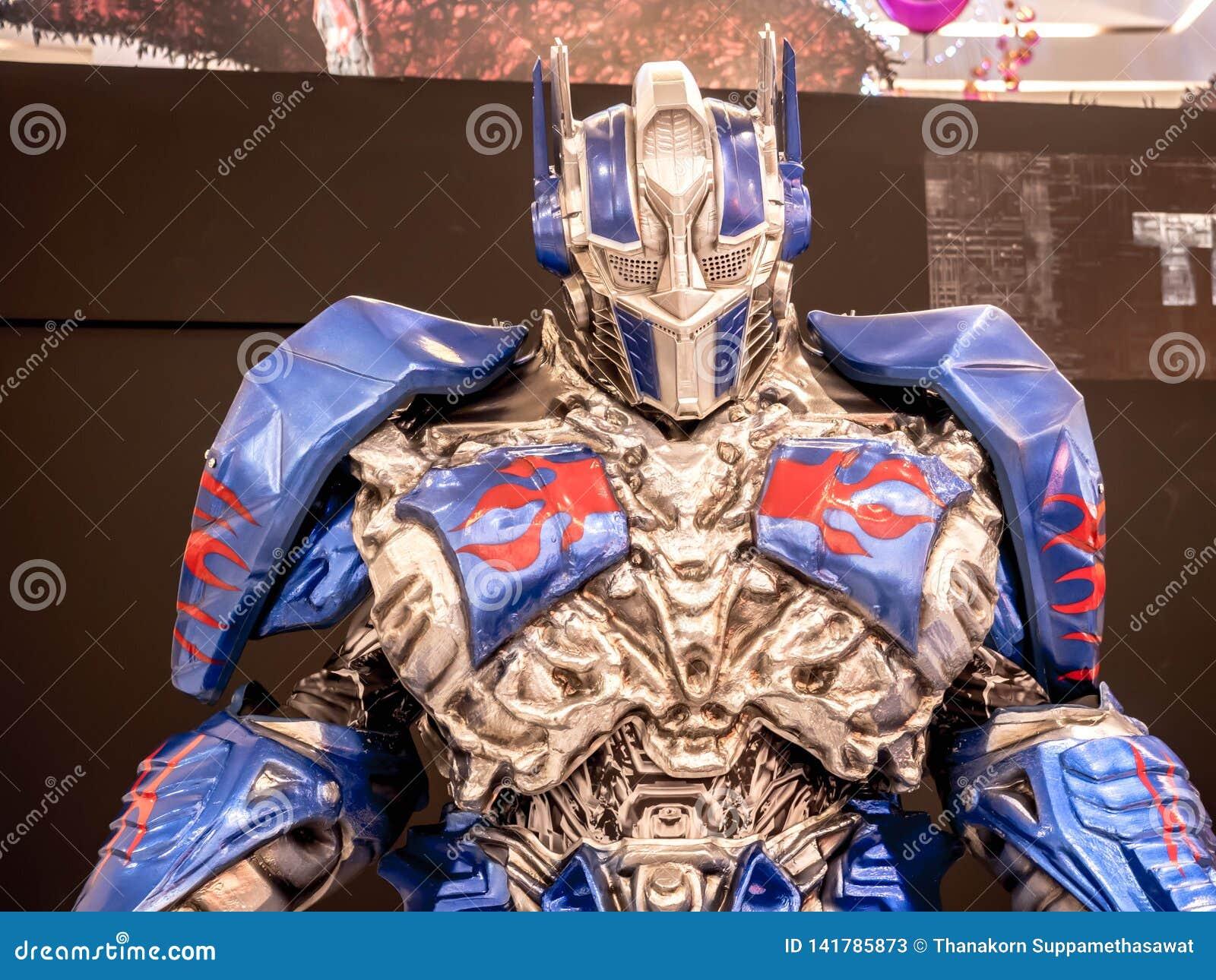 Bangkok Tajlandia, Czerwiec, - 15, 2017: Optimus prima od transformatorów: Ostatni rycerz Ja jest kwinty zaliczką żywy