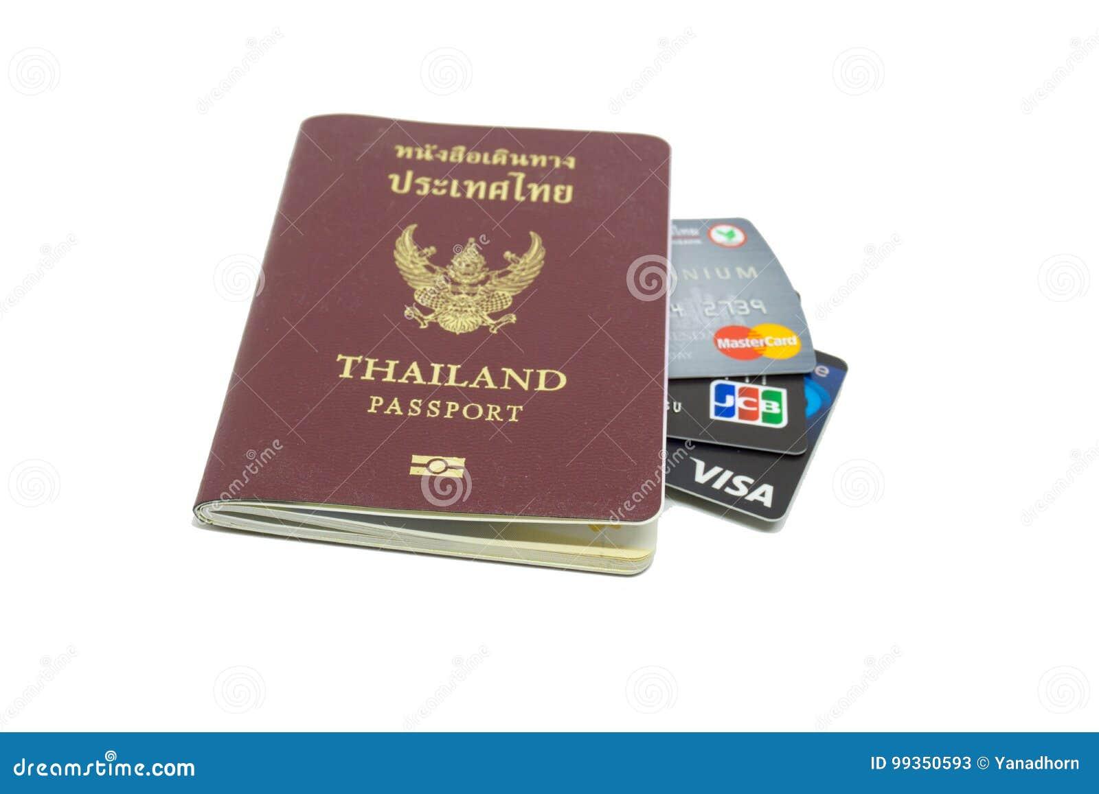 Bangkok Tajlandia Czerwiec 30 2017 Trzy Kredytowa Karta Wizy